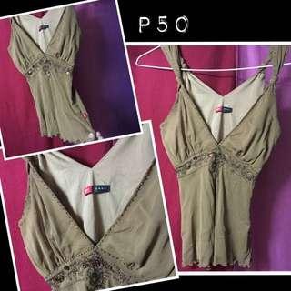 Mossimo bronze sleeveless top