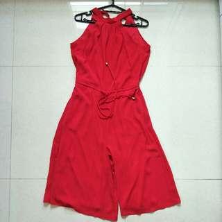 Zalora Red Halter jumpsuit