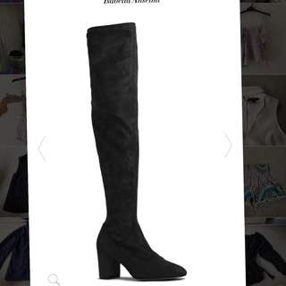 Leather knee high size 40 merchant boots