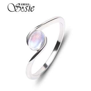 藍月光石 純銀戒指 超美