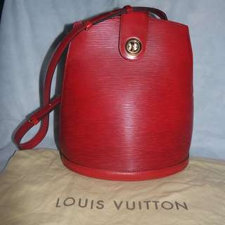 LOUIS VUITTON Epi Cluny Rouge Red for SALE (PHP 18,000 only)