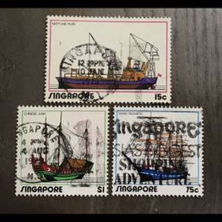 Singapore ships 3v stamps used set