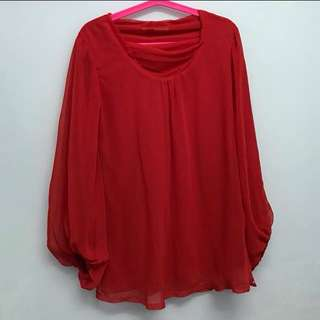 Red Blouse Dress #CNY88