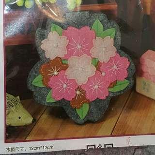 花型掛鏡盒 DIY免裁材料包 不織布