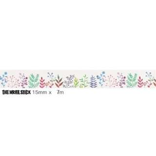 Colorful Plant Florals Washi Tape Instocks
