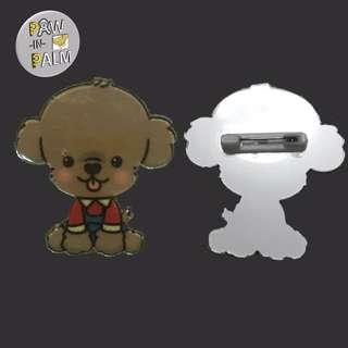 Poodle Design pin / brooch