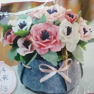 花盆 盆栽DIY免裁材料包 已裁好 不織布