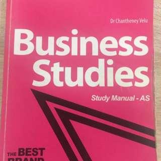 BAC Business Studies Study Manual A Levels