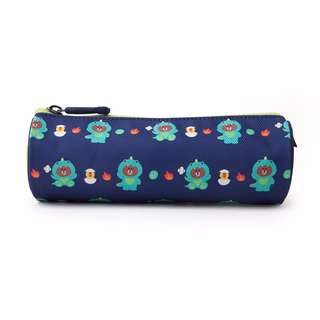 Japan LINE Bear and Friends Dino Brown JUNGLE BROWN Pen Case (NAVY)