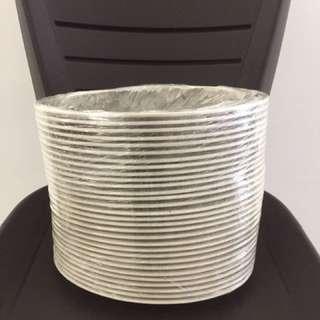 Plastic plate oval shape 30 units