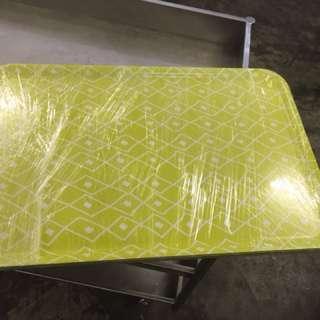 Yellow colour L size serve plate 4 units