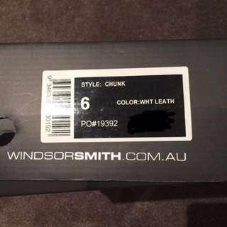 Windsor Smith Chunk White Leath High Heels