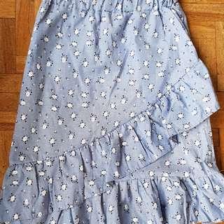 Printed Ruffled Skirt