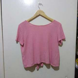 H&M (DIVIDED) Open back Blouse