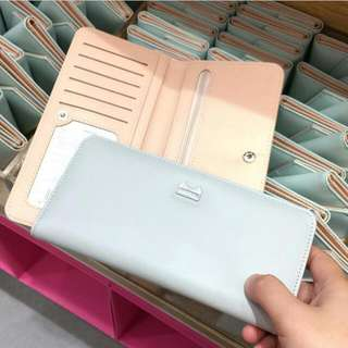 Dompet Miniso Cat Wallet Blue Pink