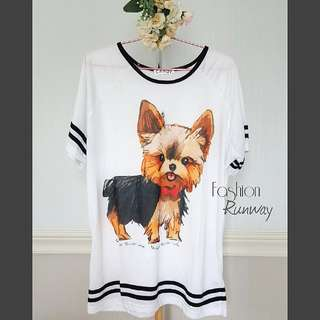 DISKON Cute Dog T Shirt