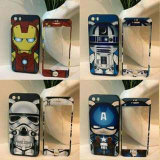 Character Phone Case With Tempered Glass