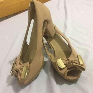 Korean Pink Suede Sandals