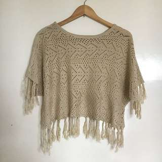 Knitted Boho Top