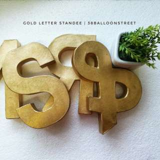 "8"" Letter Standee - Metallic - Gold"