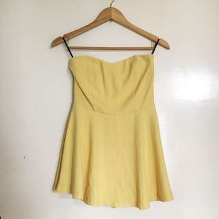 Forever 21 Yellow Romper