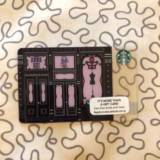 Collectible Starbucks Card (Anna Sui Collection)