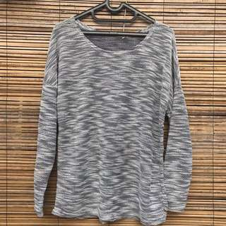 Sweater knit twist Grey