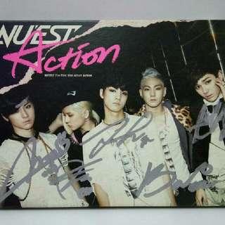 Nu'est Action Autographed Album - Minhyun Photocard.