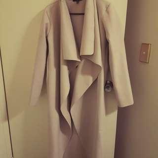 Beige waterfall duster  coat