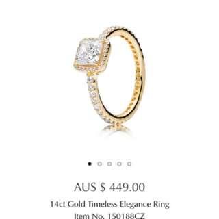 Pandora gold diamond ring