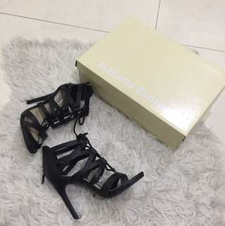 Black isabella brown heels