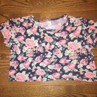 Floral Boxy Crop Top
