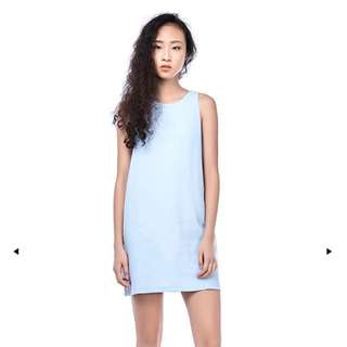 CLEONE BACK-STRAP SHIFT DRESS