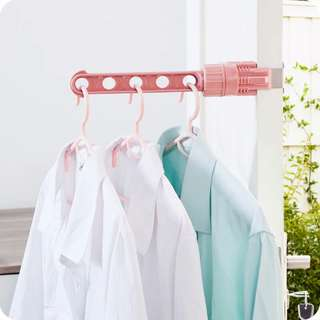 Window Laundry Stick Clothes Laundry Hook Drying Rack