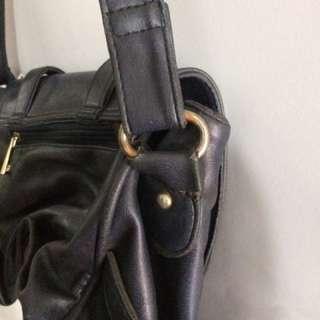 Vintage bag navy blue / tas vintage biru tua #sss
