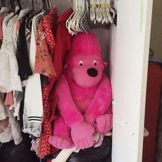Giant pink gorilla
