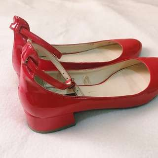 REPRICED! Forever21 Square Heel Shoes With Straps