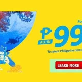 2 pax Cebu Pacific Manila - Tagbilaran Roundtrip tickets