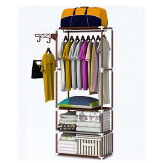 DIY Wardrobe Clothes Rack Creative Space Saving Closet Shelve for Bedroom Baby Room Maids Room