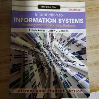 introduction to information systems, 3rd edition