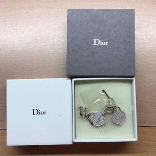100% New! Christian Dior bling bling 夾耳環 clipped earrings