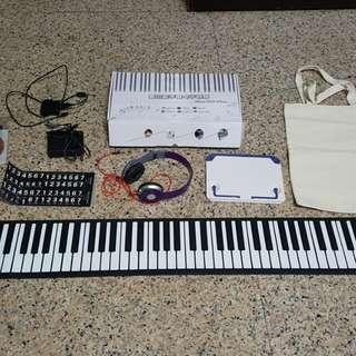 手卷鋼琴88鍵 原廠配件盒裝完整