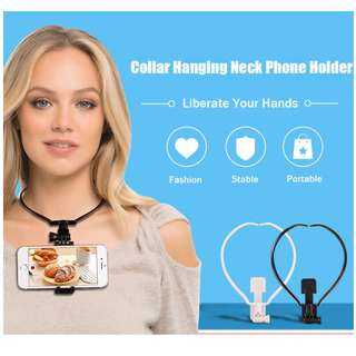 Wearable Hands-free Phone Mount Smartphone Holder Stand for iPhone Samsung Xiaomi Yi 4k Selfie Camera Gopro POV Neck Collar Mobile Phone holder