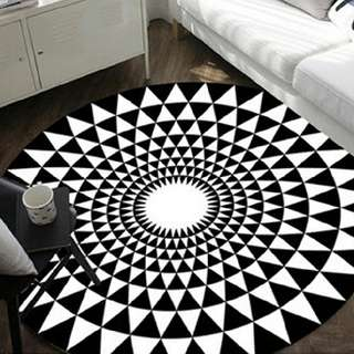 Geometric Round Floor Carpet