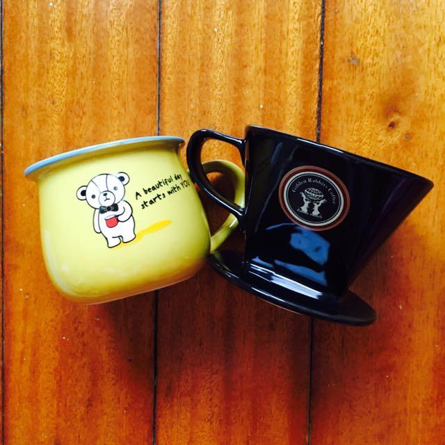 峇里島帶回/陶瓷咖啡濾杯/買一送一