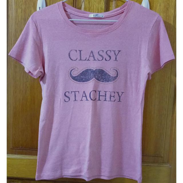 粉紅 鬍子 T-shirt