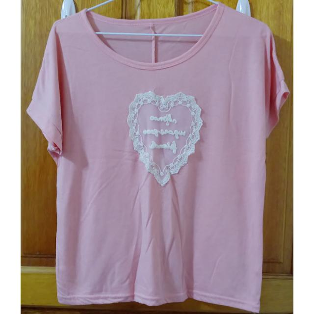 粉紅 寬鬆 T-shirt