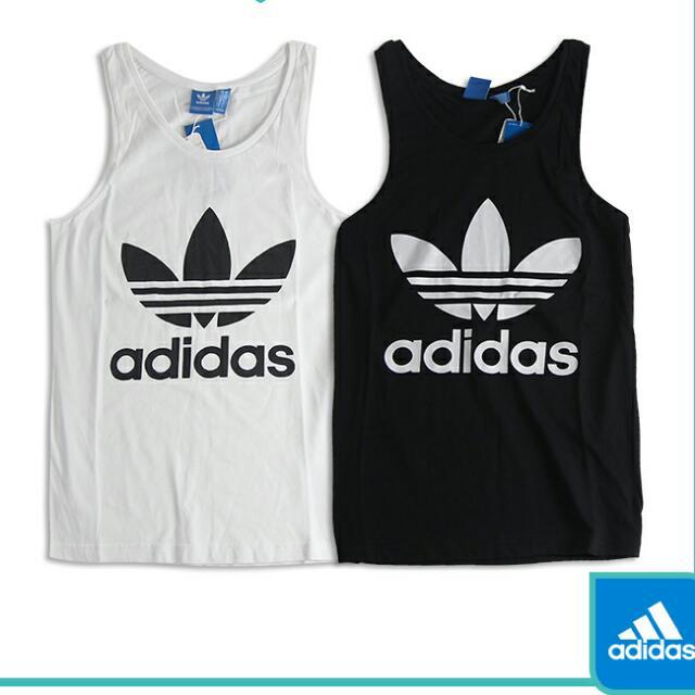 保證正品黑白各*1 Adidas 三葉草背心