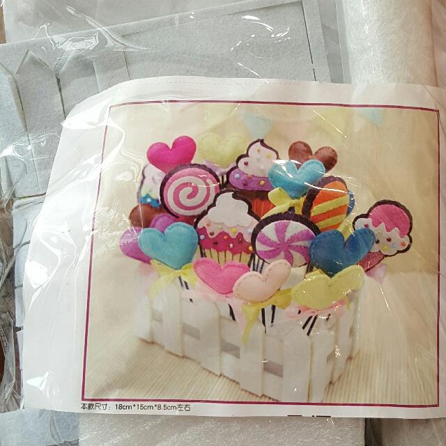糖果盆栽 DIY免裁材料包 不織布