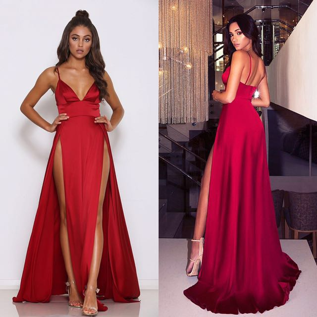 Abyss by Abby Nikki red formal dress